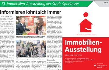 51. Immobilien-Ausstellung der Stadt-Sparkasse  -02.03.2018-
