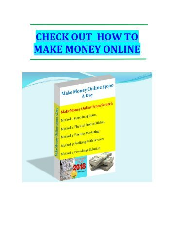 make money online eBook
