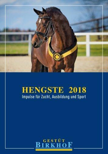 Gestüt Birkhof - Hengste 2018