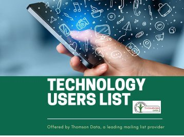 Technology Users List - Technology Users Email List