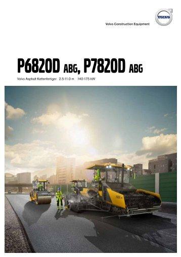 Volvo Kettenfertiger P6820D + P7820D - Datenblatt / Produktbeschreibung