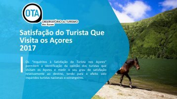 Satisfação do Turista que Visita os Açores 2017