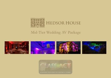 Hedsor House Mid-Tier AV Package