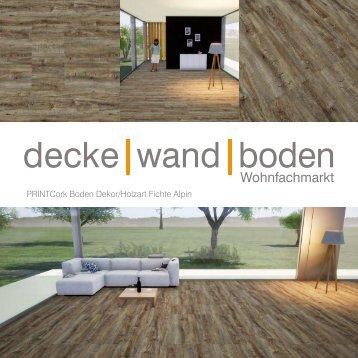 dwb Produktinformation PrintCork Boden Fichte Alpin