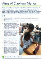 Clapham Manor Primary School Prospectus - Page 7