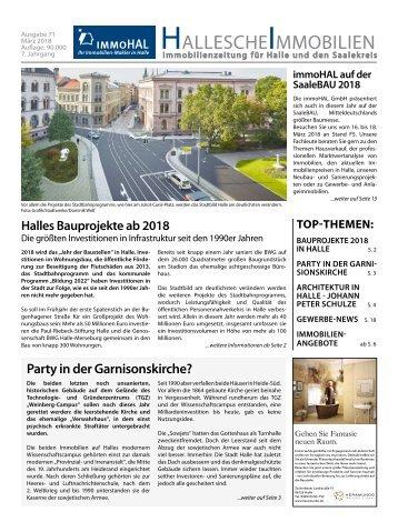 Hallesche Immobilienzeitung Ausgabe 71 März 2018