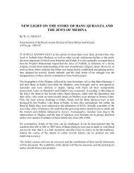 NEW LIGHT ON THE STORY OF BANU ... - Teachislam.com