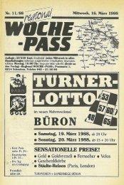 Woche-Pass | KW 11 | 16. März 1988