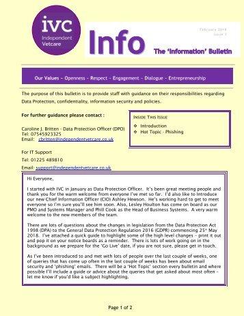 Info Bulletin Feb 2018