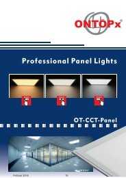 ONTOPx CCT LED Panel Lighting