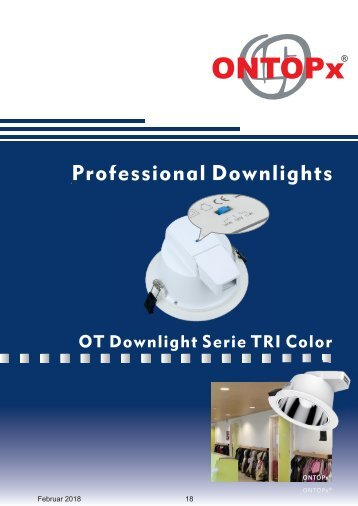 ONTOPx LED Downlight TRIColor
