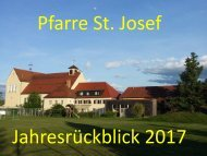 Pfarre St. Josef Jahresrückblick 2017