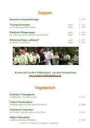 Abendkarte Goldener Hirsch Bad Berneck
