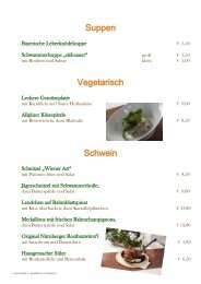 Mittagskarte Goldener Hirsch Bad Berneck