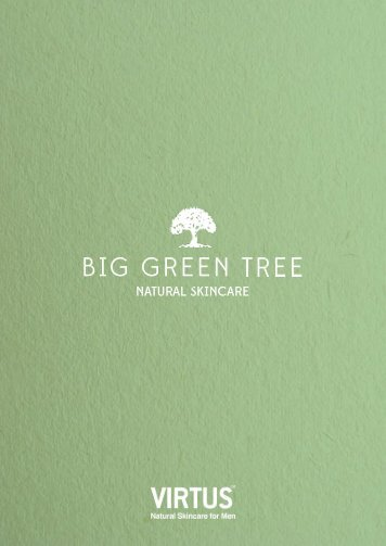 Big Green Tree Natural Skincare product brochure - March 2018