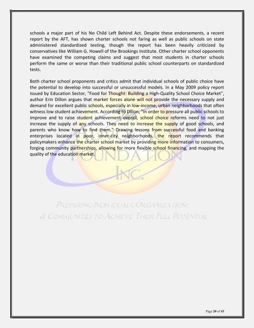 The 21st Century Charter Schools Initiative