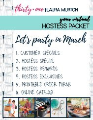 March Hostess Packet