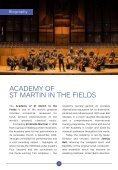 CAMA presents Academy of St Martin in the Fields with Joshua Bell / Wednesday, March 14, 2018, International Series at The Granada Theatre, 8:00 PM - Page 6
