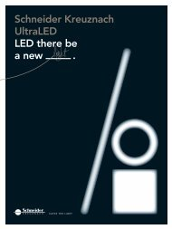 Schneider Kreuznach UltraLED, LED there be a new light