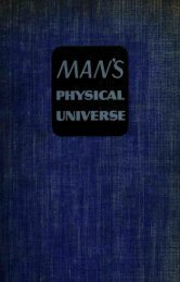 Man's physical universe