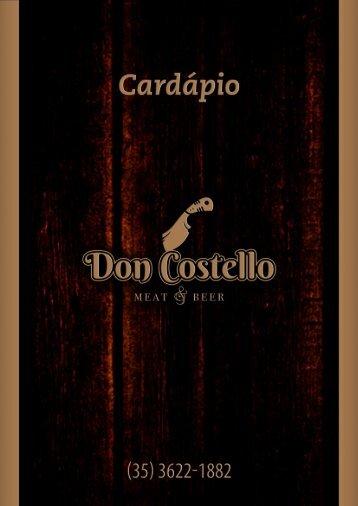 CARDÁPIO DON COSTELLO