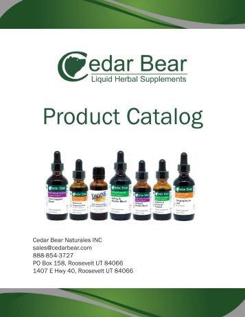 Cedar Bear Catalog