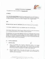 CPG contract