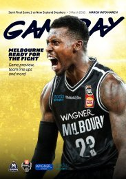 Game day program Semi Final 1