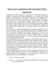 10 Give your eyebrows the precision they deserve