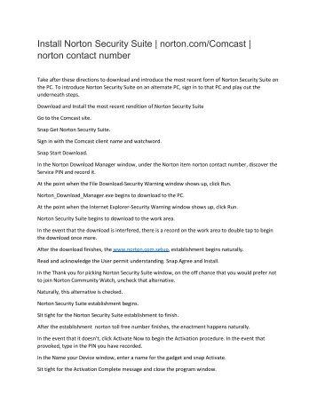 Norton Setup - Login | Manage, Download or Setup an Account to Install