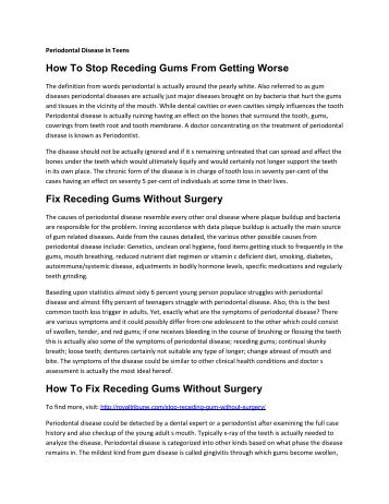 How To Stop Receding Gums From Getting Worse?