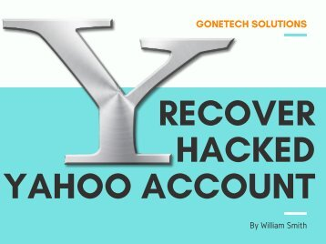 How To Easily Get Recover Your Hacked Yahoo Account - 2018 | You Should Not Miss It!!!