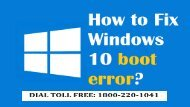How to Fix Windows 10 boot error Dial 1-800-220-1041