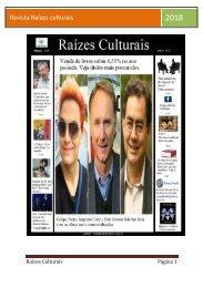 Revista Raizes culturais março 2018
