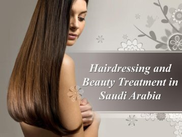 Hairdressing and Beauty Treatment in Saudi Arabia