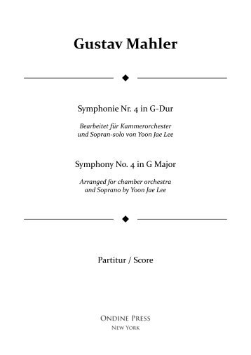 Mahler (arr. Lee): Symphony No. 4 in G Major