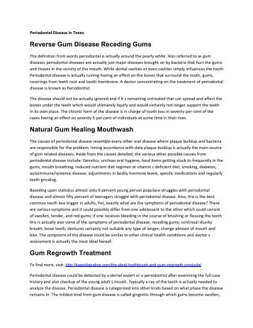 Reverse Gum Disease Receding Gums