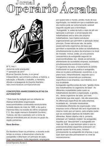 JORNAL ACRATA Nº 5 BERTHIER