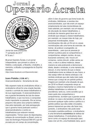 JORNAL ACRATA Nº 8 ICARO  (1)