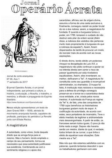 JORNAL ACRATA Nº 09 JEAN GRAVE