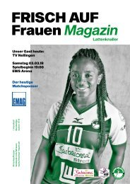 Ausgabe 8 - Saison 2017/2018 - FRISCH AUF Frauen Magazin