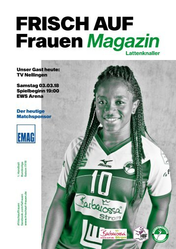 """Ausgabe 8 - Saison 2017/2018 - FRISCH AUF Frauen Magazin """"LATTENKNALLER"""""""