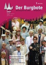 Der Burgbote 2015 (Jahrgang 95)