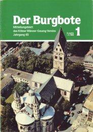 Der Burgbote 1985 (Jahrgang 65)