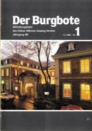 Der Burgbote 1988 (Jahrgang 68)