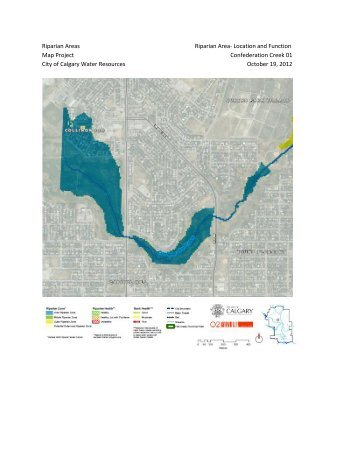 O2 Riparian Maps Project submitted to Calgary Water Resources October 19 2012