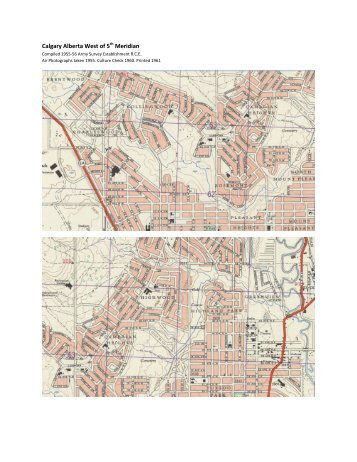 1960 & 1969 maps of my Coulee