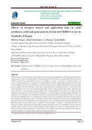 Effects of nitrogen sources and application time on yield attributes, yield and grain protein of rain-fed NERICA-3 rice in Gambella, Ethiopia