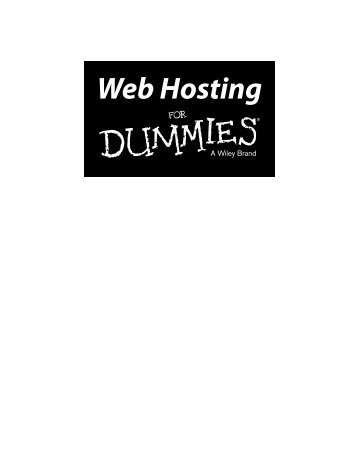 web hosting for dummies 2016