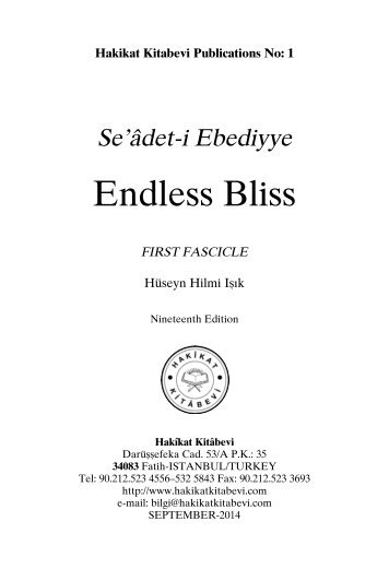 Seadet-i Ebediyye - Endless Bliss First Fascicle